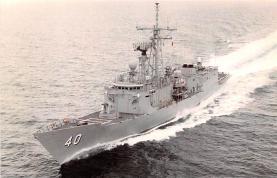 mil051922 - Military Battleship Postcard, Old Vintage Antique Military Ship Post Card
