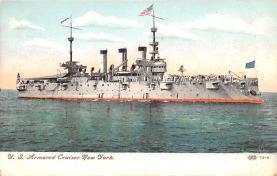 mil051926 - Military Battleship Postcard, Old Vintage Antique Military Ship Post Card