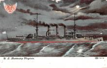 mil051931 - Military Battleship Postcard, Old Vintage Antique Military Ship Post Card