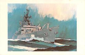mil051932 - Military Battleship Postcard, Old Vintage Antique Military Ship Post Card