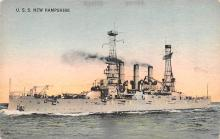 mil051940 - Military Battleship Postcard, Old Vintage Antique Military Ship Post Card