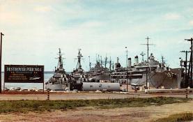 mil051949 - Military Battleship Postcard, Old Vintage Antique Military Ship Post Card