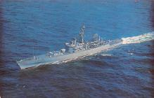 mil051950 - Military Battleship Postcard, Old Vintage Antique Military Ship Post Card