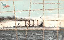 mil051954 - Military Battleship Postcard, Old Vintage Antique Military Ship Post Card