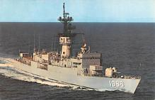 mil051958 - Military Battleship Postcard, Old Vintage Antique Military Ship Post Card