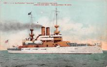 mil051960 - Military Battleship Postcard, Old Vintage Antique Military Ship Post Card