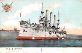 mil051963 - Military Battleship Postcard, Old Vintage Antique Military Ship Post Card