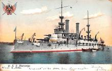 mil051965 - Military Battleship Postcard, Old Vintage Antique Military Ship Post Card
