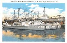 mil051968 - Military Battleship Postcard, Old Vintage Antique Military Ship Post Card