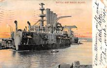 mil051969 - Military Battleship Postcard, Old Vintage Antique Military Ship Post Card