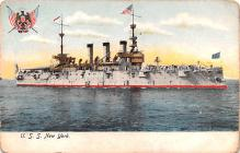 mil051970 - Military Battleship Postcard, Old Vintage Antique Military Ship Post Card