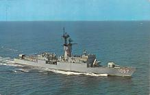 mil051984 - Military Battleship Postcard, Old Vintage Antique Military Ship Post Card