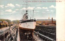 mil051991 - Military Battleship Postcard, Old Vintage Antique Military Ship Post Card