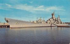 mil051994 - Military Battleship Postcard, Old Vintage Antique Military Ship Post Card