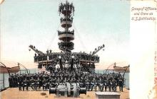 mil051996 - Military Battleship Postcard, Old Vintage Antique Military Ship Post Card