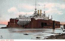 mil051997 - Military Battleship Postcard, Old Vintage Antique Military Ship Post Card