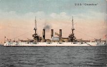 mil052006 - Military Battleship Postcard, Old Vintage Antique Military Ship Post Card