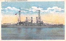 mil052008 - Military Battleship Postcard, Old Vintage Antique Military Ship Post Card