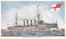 mil052009 - Military Battleship Postcard, Old Vintage Antique Military Ship Post Card