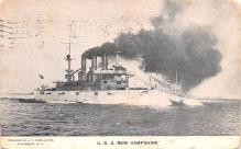mil052017 - Military Battleship Postcard, Old Vintage Antique Military Ship Post Card