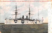 mil052020 - Military Battleship Postcard, Old Vintage Antique Military Ship Post Card