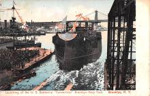 mil052022 - Military Battleship Postcard, Old Vintage Antique Military Ship Post Card