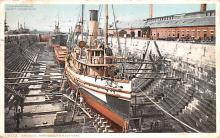 mil052023 - Military Battleship Postcard, Old Vintage Antique Military Ship Post Card