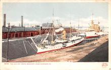 mil052026 - Military Battleship Postcard, Old Vintage Antique Military Ship Post Card