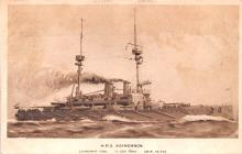 mil052034 - Military Battleship Postcard, Old Vintage Antique Military Ship Post Card