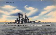 mil052035 - Military Battleship Postcard, Old Vintage Antique Military Ship Post Card