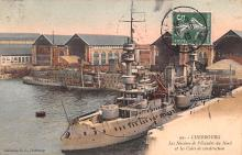 mil052050 - Military Battleship Postcard, Old Vintage Antique Military Ship Post Card