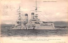 mil052060 - Military Battleship Postcard, Old Vintage Antique Military Ship Post Card