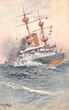 mil052062 - Military Battleship Postcard, Old Vintage Antique Military Ship Post Card