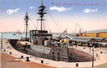 mil052064 - Military Battleship Postcard, Old Vintage Antique Military Ship Post Card
