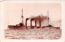 mil052092 - Military Battleship Postcard, Old Vintage Antique Military Ship Post Card