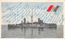 mil052122 - Military Battleship Postcard, Old Vintage Antique Military Ship Post Card