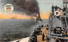mil052166 - Military Battleship Postcard, Old Vintage Antique Military Ship Post Card