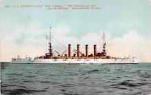 mil052168 - Military Battleship Postcard, Old Vintage Antique Military Ship Post Card