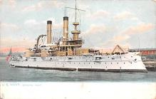 mil052170 - Military Battleship Postcard, Old Vintage Antique Military Ship Post Card