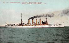 mil052173 - Military Battleship Postcard, Old Vintage Antique Military Ship Post Card