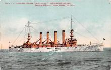 mil052174 - Military Battleship Postcard, Old Vintage Antique Military Ship Post Card