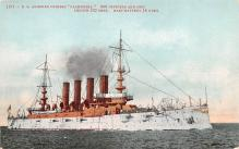 mil052175 - Military Battleship Postcard, Old Vintage Antique Military Ship Post Card