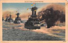 mil052184 - Military Battleship Postcard, Old Vintage Antique Military Ship Post Card