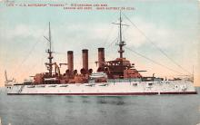 mil052200 - Military Battleship Postcard, Old Vintage Antique Military Ship Post Card