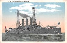 mil052204 - Military Battleship Postcard, Old Vintage Antique Military Ship Post Card