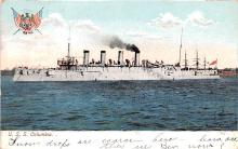 mil052209 - Military Battleship Postcard, Old Vintage Antique Military Ship Post Card