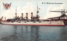 mil052210 - Military Battleship Postcard, Old Vintage Antique Military Ship Post Card