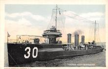 mil052214 - Military Battleship Postcard, Old Vintage Antique Military Ship Post Card