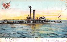 mil052219 - Military Battleship Postcard, Old Vintage Antique Military Ship Post Card