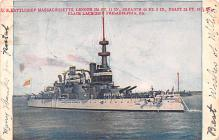 mil052224 - Military Battleship Postcard, Old Vintage Antique Military Ship Post Card